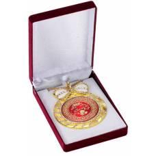 """Медаль deluxe с кристаллами """"С Юбилеем!"""""""